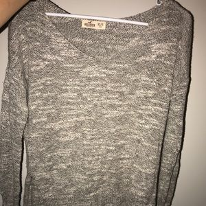 Hollister xs/s grey sweater
